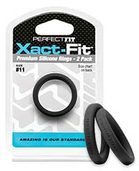 Perfect Fit Xact Fit #11 - Black Pack of 2