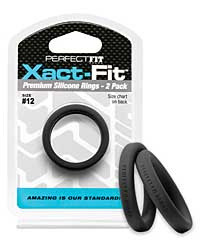 Perfect Fit Xact Fit #12 - Black Pack of 2