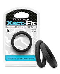 Perfect Fit Xact Fit #14 - Black Pack of 2