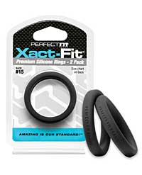 Perfect Fit Xact Fit #15 - Black Pack of 2