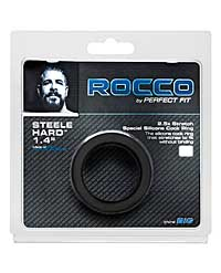 "The Rocco Steele Hard 1.4"" Silicone Super Stretch - Black"