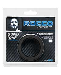 "The Rocco Steele Hard 1.75"" Silicone Super Stretch - Black"