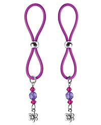 Bijoux de Nip Nipple Halos Flower Charm - Purple