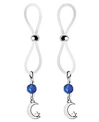 Bijoux de Nip Nipple Halos Moon & Star Charm - Blue/Clear