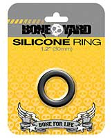 "Boneyard 1.2"" Silicone Ring - Black"