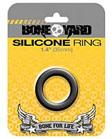 "Boneyard 1.4"" Silicone Ring - Black"