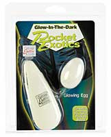 Glow-Dark Pocket Exotics Vibrating Egg