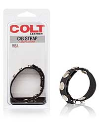 COLT Leather C/B Strap 5 Snap Fastener - Black