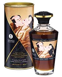 Shunga Warming Oil Creamy Love Latte - 3.5 oz.