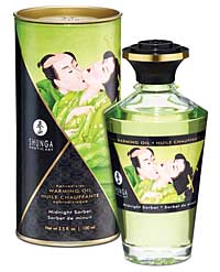 Shunga Warming Oil Midnight Sorbet - 3.5 oz.