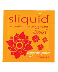 Sliquid Naturals Swirl Lubricant Pillow - .17 oz Peach