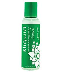 Sliquid Naturals Swirl Lubricant - 2 oz Green Apple
