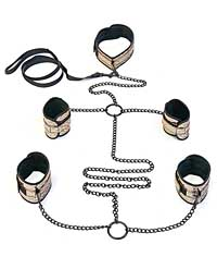 Spartacus Faux Leather Collar to Wrist & Ankle Restraints Bondag