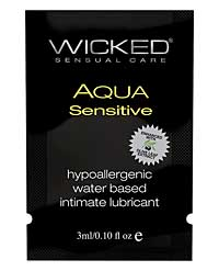 Wicked Sensual Care Hypoallergenic Aqua Sensitive Waterbased Lub