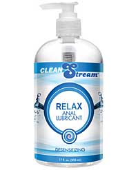 Clean Stream Relax Desensitizing Anal Lube - 17 oz
