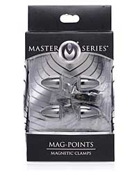 Master Series Mag Points Magnetic Nipple Clamp - Set of 2