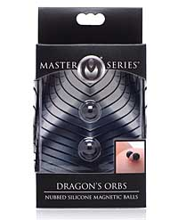 Master Series Dragon's Orbs Nubbed Silicone Magnetic Balls - Bla