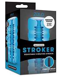 ZOLO Backdoor Squeezable Vibrating Stroker