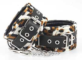7937 Animal print ankle/foot cuffs