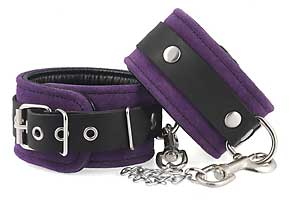 7947 Royal purple ankle/foot cuffs
