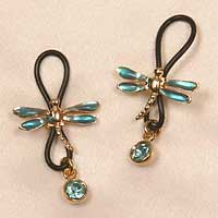 "Non-Piercing nipple rings ""Dragonfly"" with gems"