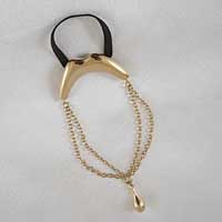BH138 Men's Gold Kiss Penis Chain Bracelet with Pendant