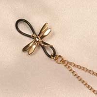CHS12 Women's non-piercing Dragonfly nipple clips with chain and