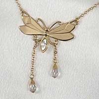 Gold Butterfly Waist Chain with Crystals