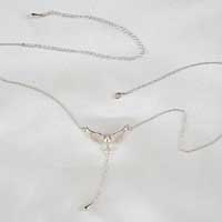 CHT121 Silver Waist Chain with Dove Pendant