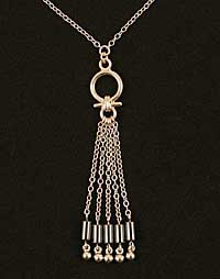 CHT92 Women's Egyptian silver waist chain with hematite pendant