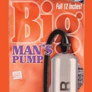 "BIG MAN's PENIS PUMP 12"" WITH THREE SIZED SLEEVES"