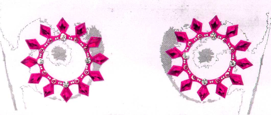 Nipple Crystal Tattoos Jeweled Hot Pink CLEARANCE