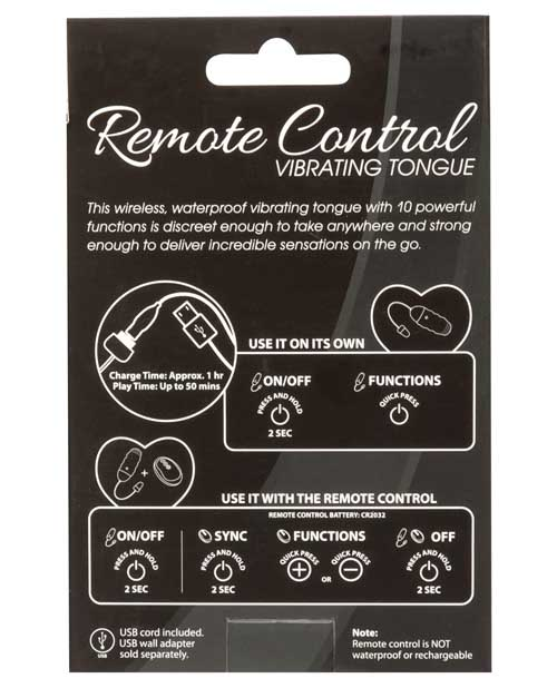 Simple & True Remote Control Vibrating Tongue - Pink - Click Image to Close