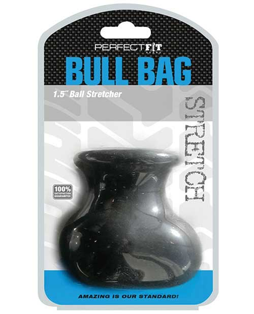 "Perfect Fit Bull Bag 1.5"" Ball Stretcher - Black - Click Image to Close"