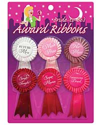 Bride to Be's Award Ribbons - Pack of 6