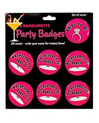 Bachelorette Party Badges - Pack of 7