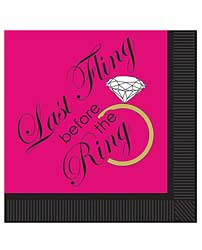 Bachelorette Last Fling Before the Ring 2 Ply Napkins - Pack of