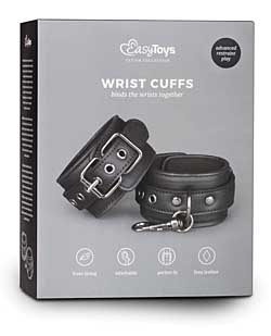 Easy Toys Leather Handcuffs - Black