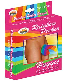 Rainbow Pecker Huggie Sock