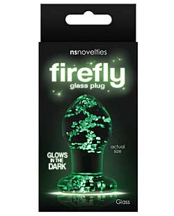 Firefly Clear Glass Plug Small - Glow