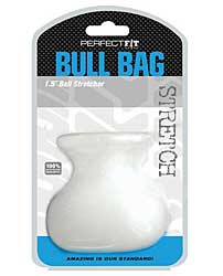"Perfect Fit Bull Bag 1.5"" Ball Stretcher - Clear"