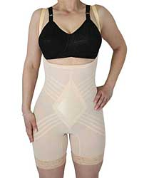 Rago Shapewear Wear Your Own Bra Body Shaper Beige SM
