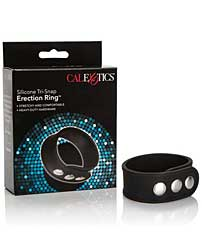 Cal Exotics Silicone Tri Snap Erection Ring