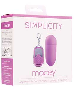 Shots Simplicity Macey Large Remote Control Vibrating Egg - 10 S