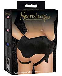 Sportsheets Plus Size Beginners Strap On Harness - Black