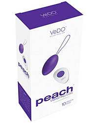 VeDO Peach Rechargeable Egg Vibe - Into You Indigo