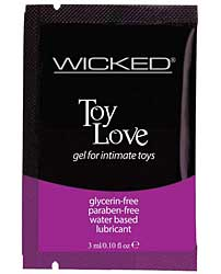 Wicked Sensual Care Collection Water Based Lubricant - 3 ml Frag