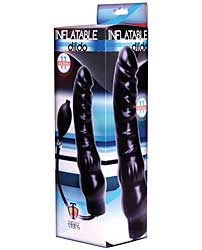 "Trinity Vibes 11"" Inflatable Dildo - Black"