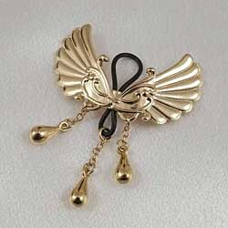 Non-Piercing Gold Wings of Desire Nipple Jewelry
