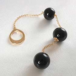 Men's Insertable Triple Geisha Balls with Gold Loop